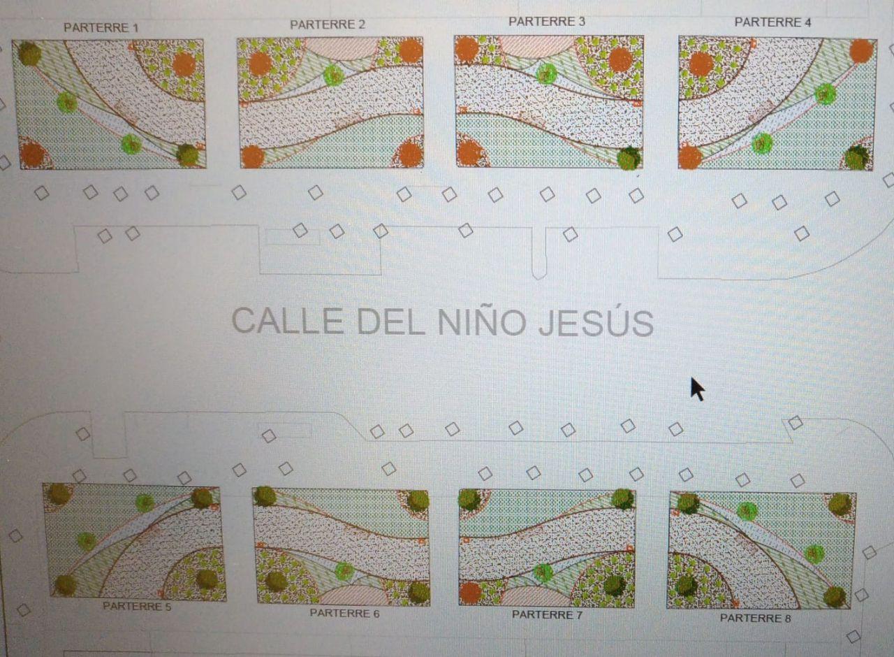Detalles de la reforma de la plaza del Niño Jesús propuesta por Medio Ambiente.