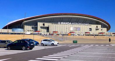 Fachada del Wanda Metropolitano, campo del Atleti.