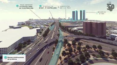 El tramo entre este nudo y el enlace de Manoteras es uno de los de mayor intensidad de tráfico de España.