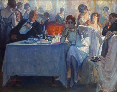 'Falenas', de Carlos Verger Fioretti (1872 - 1929). Óleo sobre lienzo. Exposición 'Invitadas', Museo del Prado.