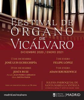 El Festival de Órgano de Vicálvaro vuelve por Navidad para acercar la música barroca a los madrileños