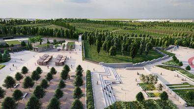 El nuevo parque, que estará listo en dos años, tendrá una superficie de casi 900.000 m2,  en la que se plantarán 5.500 árboles. El proyecto, que también incluye otras zonas verdes y obras de urbanización, contará con un presupuesto de 20 millones de euros.