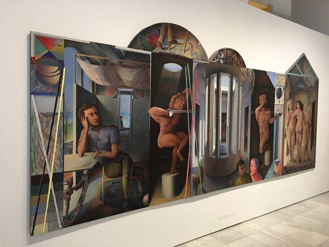 La exposición es la más amplia muestra que se ha dedicado en Madrid a Guillermo Pérez Villalta, un inusual recorrido a través de la obra de este artista 'esencial' para la escena contemporánea española.