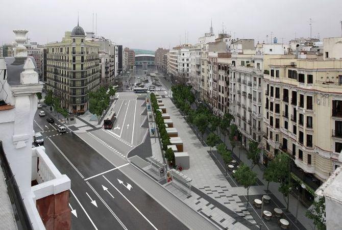 La reforma de la zona intermodal de Felipe II  permitirá reordenar la circulación peatonal y los distintos usos que confluyen en la zona.