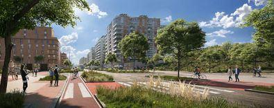 El ámbito incluye también 162.000 m2 de zonas verdes y espacios libres, así como 136.900 m2 de equipamientos sociales y servicios urbanos.