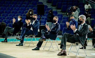 El Vicepresidente regional, acompañado del viceconsejero de Deportes, Roberto Núñez, ha asistido esta mañana al sorteo de emparejamientos de la Copa del Rey ACB Madrid 2021.