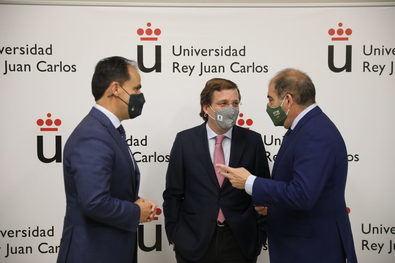 José Luis Martínez-Almeida, durante la inauguración del curso de verano 'El futuro de los autónomos y emprendedores en la era Post-COVID' en la Universidad Rey Juan Carlos.