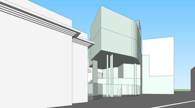 La ampliación del actual centro cultural, situado en el barrio de la Guindalera, consistirá en la construcción de un nuevo edificio de 608 m2 divididos en cuatro plantas.