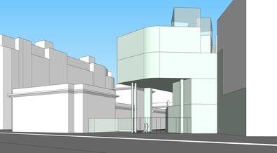 El proyecto también incluye la reforma del patio interior en la zona de conexión entre el edificio principal y el de nueva construcción.