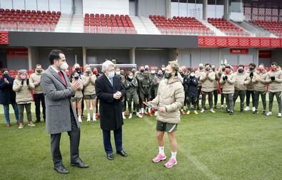 El vicepresidente ha asistido al entrenamiento del equipo en el Centro Deportivo Wanda Alcalá de Henares.