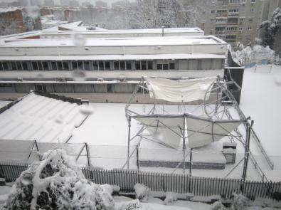 Ceden los techos de varias instalaciones en Hortaleza