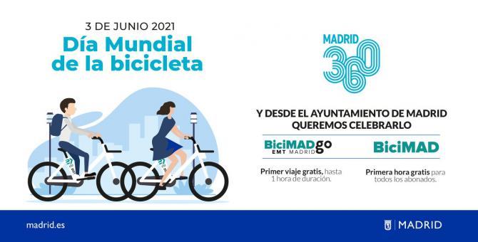 El Ayuntamiento regala una hora de BiciMAD y BiciMAD Go a todos los usuarios de ambos servicios