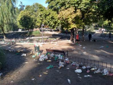 'Macrobotellón', en el parque de Berlín