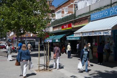 La Carretera de Canillas, una de las vías más comerciales de Hortaleza.