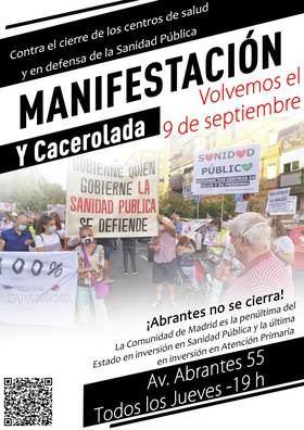 Los vecinos de Carabanchel volverán a protestar el día 9 por la falta de plantilla del Centro de Salud de Abrantes