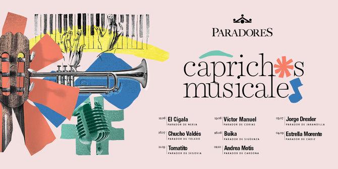 'Caprichos Musicales' es un paquete que incluye un cóctel de bienvenida a la llegada al Parador, concierto privado con aforo muy limitado coincidiendo con la puesta de sol, cena con un menú diseñado para ocasión y una noche de alojamiento y con desayuno incluido.