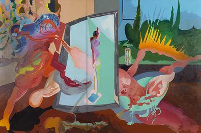 'El pintor y su modelo', de Carlos Alcolea.