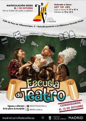 Ya están abiertas las inscripciones para la Escuela del Teatro Municipal de Vallecas