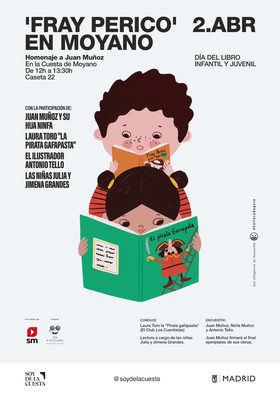 El Día del Libro Infantil y Juvenil con Fray Perico, en la Cuesta de Moyano