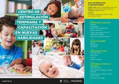 Talleres de 'newborn gym', 'baby music', 'baby art', inmersión lingüística en inglés para bebés, clases de chino, informática, ajedrez infantil o pilates para niños, entre las propuestas.
