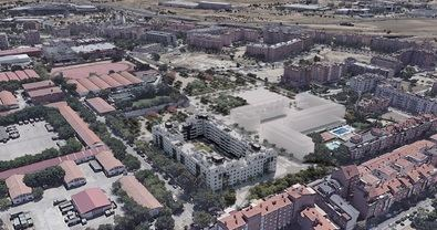 El ámbito cuenta con una superficie de 38.314 m2, de los que 27.574 m2 están destinados a dotaciones públicas y 10.740 m2 a uso residencial.