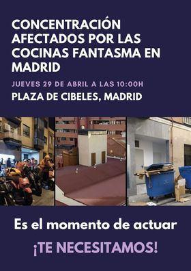 Los vecinos afectados por las 'cocinas fantasma' se concentrarán este jueves frente al Ayuntamiento de Madrid