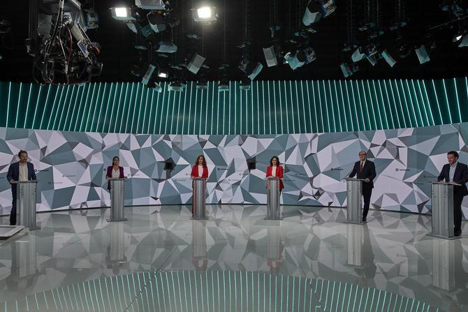 El primer debate y único debate a seis de todos los candidatos al 4M.
