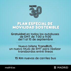 Llega el nuevo billete TransBUS y los viajes gratis en autobús de la EMT en hora punta de la mañana