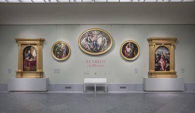 Imagen del montaje 'El Greco en Illescas', en la sala 9 B del edificio Villanueva.