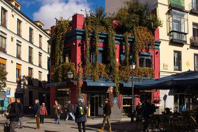 El Viajero abre sus puertas en la Plaza de la Cebada en 1995 y se convierte en punto de encuentro del Madrid más bohemio y vanguardista, en un barrio histórico y pintoresco que pronto empieza a florecer en bares, tascas y tabernas, convirtiéndose en uno de los recorridos de tapas y copas más emblemáticos de la capital.