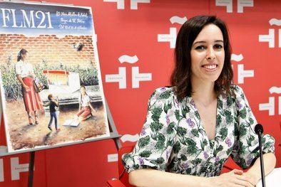 Andrea Reyes, joven ilustradora madrileña, es la autora del cartel de la edición 2021 de la FLM, que celebra su 80ª edición, con Colombia como país invitado y el patrocinio de CaixaBank.