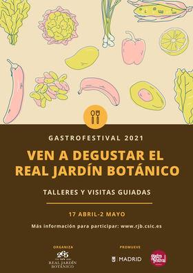 El Real Jardín Botánico se une al Gastrofestival, con talleres y visitas guiadas a partir del 17 de abril