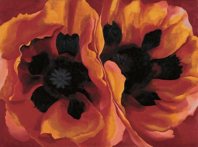 Georgia O'Keeffe. 'Amapolas orientales, 1927' (Oriental Poppies). Óleo sobre lienzo, 76,7x102,1 cm. Collection of the Frederick R. Weisman Art Museum at the University of Minnesota, Mineápolis. Adquisición del museo 1937.