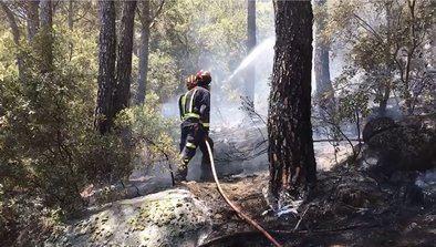 El incendio que se originó el sábado por la tarde en el Pantano de San Juan, en San Martín de Valdeiglesias, ha sido oficialmente controlado a las 21.00 horas de este domingo.