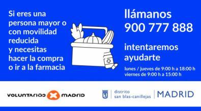 Voluntarios para ayudar a mayores de San Blas