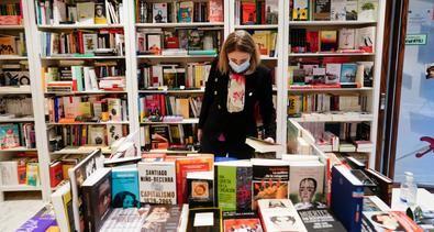 La consejera de Cultura, Turismo y Deporte del Gobierno regional, Marta Rivera de la Cruz, durante la Noche de los Libros de la Comunidad de Madrid 2020.
