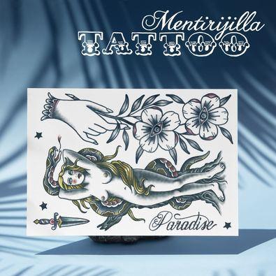 La simbología y diseño de los tatuajes varía en función de la cultura o grupo social en el que se realizan. En la reciente tradición occidental hay algunos iconos que se han utilizado ampliamente, como la rosa, un nombre, las calaveras y las golondrinas.