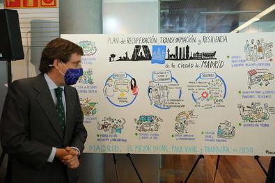 Almeida y Villacís han presentado el Plan de Recuperación de la ciudad que persigue convertir a Madrid en el mejor lugar para vivir y trabajar en 2030.