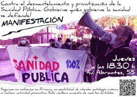 Los vecinos de Carabanchel vuelven a manifestarse contra el 'desmantelamiento' del Centro de Salud de Abrantes