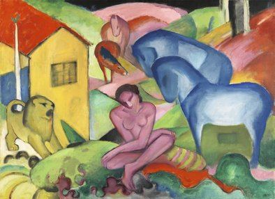 Franz Marc, 'El sueño', 1912 (The Dream). Óleo sobre lienzo, 100,5 x 135,5 cm.