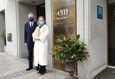 Marta Rivera de la Cruz, en su asistencia a la reapertura del hotel Barceló Emperatriz, tras haber permanecido cerrado durante meses por el impacto del Covid-19.