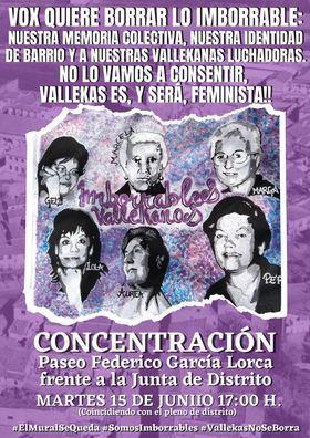 El mural feminista de Vallecas se queda gracias al 'no' de la izquierda a la moción de Vox y la abstención de PP y Cs