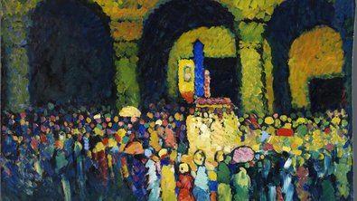 Según la pinacoteca, las características de la siguiente muestra, 'Expresionismo alemán', 'hacen posible este ajuste de precios temporal'. En la imagen, 'La Ludwigskirche en Múnich' (Wassily Kandinsky, 1908).