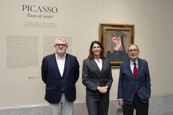 De izquierda a derecha: Miguel Falomir, Director del Museo Nacional del Prado, Christina Simmons, Executive Director American Friends of the Prado Museum y Javier Solana, Presidente del Patronato del Museo Nacional del Prado.