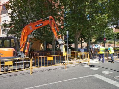 Las obras ya han comenzado en la calle del Pez Austral.