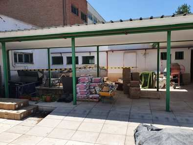 Los trabajos se están realizando durante los meses de verano para que estén finalizados al inicio del curso escolar.