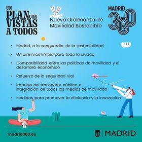 La Ordenanza de Movilidad Sostenible apuesta por un Madrid dinámico, innovador y comprometido con el medio ambiente