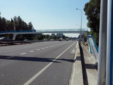 La pasarela peatonal sobre la M-30 será rehabilitada.