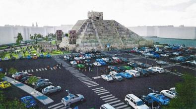 La 'mega' pirámide azteca, en Machupichu