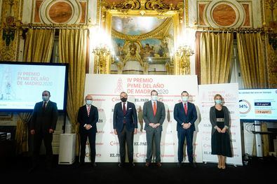 La Cámara de Comercio ha entregado este martes el Premios Pyme del Año 2020 de Madrid al grupo JUSTE, una empresa dedicada a la investigación, desarrollo y producción de principios farmacéuticos que han tenido un papel 'muy activo' durante la pandemia.